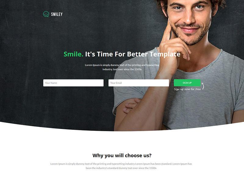 Smiley - Marketing Landing page