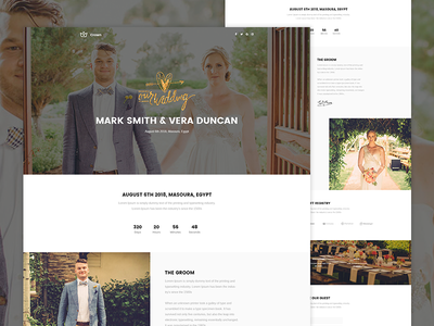 Crown - Wedding Landing page crown unbounce themeforest envato