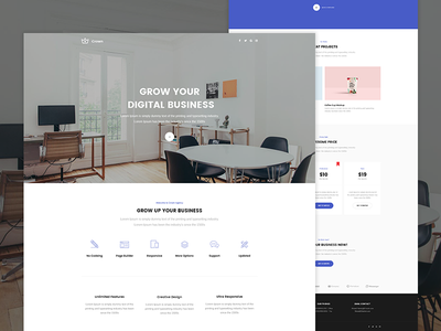Crown - Agency Landing page crown unbounce themeforest envato