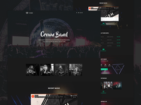 Crown - Musician Landing page