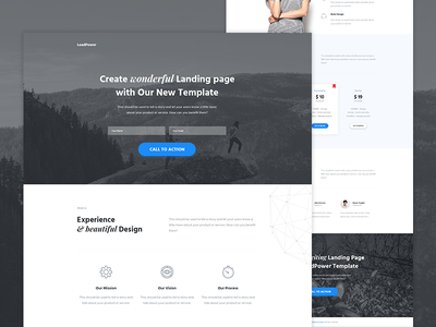 LeadPower - Unbounce Landing Page Template envato themeforest landing page