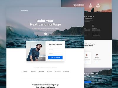 LeadMask - Services Unbounce Landing Page Template landing page themeforest envato
