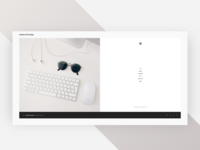 Split Homepage - Adobe XD