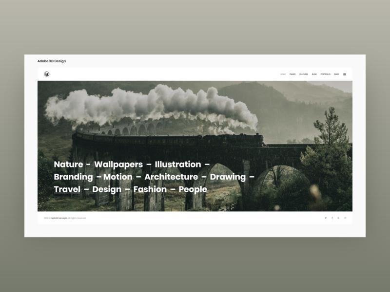 Interactive Showcase - Adobe XD lettering type website flat animation app icon ux typography branding ui vector illustration design web landing showcase interactive themeforest envato