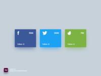 Social Widget - Adobe XD