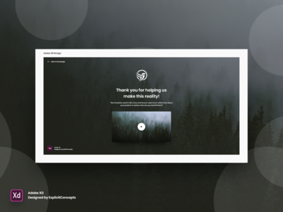 Thank You Page - Adobe XD