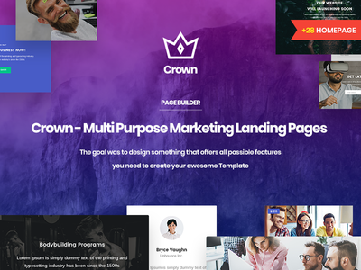 Crown | Multi-Purpose Html5 Landing Template With Page Builder