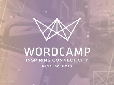 Wordcamp MPLS 2015 wordpress wordcamp minneapolis minnesota connection branding logo