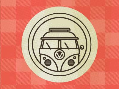 VW Icon icon vw van hippie travel road trip retro scenic