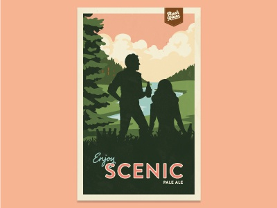 Rush River Scenic Pale Ale Poster poster craft beer travel rush river wisconsin pale ale vintage retro wpa