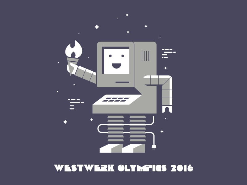 Westwerk Olympics 2016 torch illustrations code mr.robot computer retro olympics agency