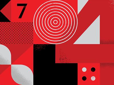 40th Mural abstract 40th geometric design wall pattern geometric illustration