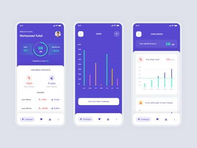 Kotak Health Insurance App Design minimal flat kotak goal steps minimalist clean insurance app insurance health app health