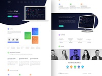 Landing page design for Onyx-Future exchange for crypto currency