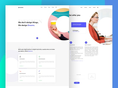 Clean minimal Website design hire career services about us it company website minimal clean