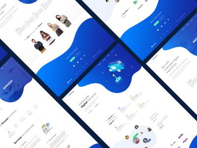 Digital agency or it company website design minimal landing page landingpage it company isometric clean digital agency agency