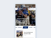 Sport news app design