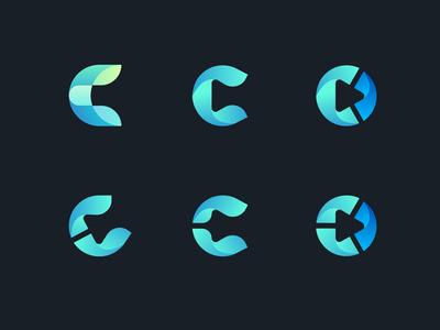 Exploring letter C Logo for Cryptomedic cryptomedic logo design ico crypto logo c logo c letter logo letter c