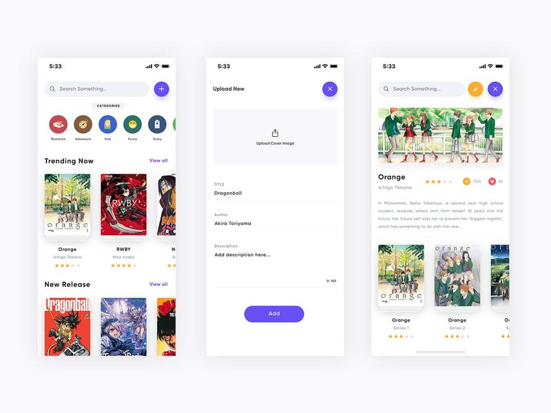 Magazine app design form design iphone x minimal app book app magazine app magazine