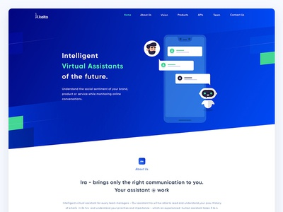 Landing page design Virtual assistants product clean about us minimal illustrations one page landing page product design virtual assistants