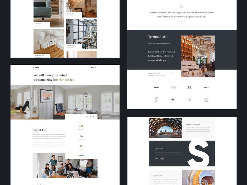 Cavasa - Responsive interior and architecture HTML Template interior design landingpage responsive furniture website construction building architecture architect interior