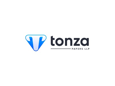 Logo Design for Tonza Papers LLP logo logo design letter logo letter t logo paper paper logo tonza