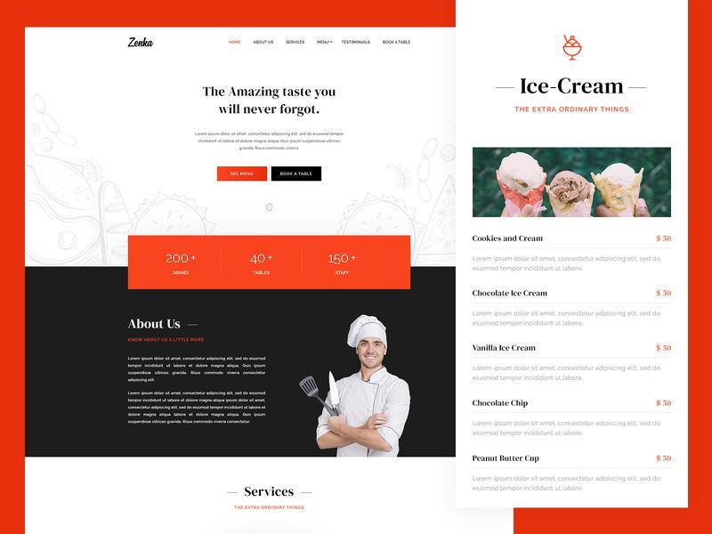 Zenka - Responsive Restaurant HTML Template restro restaurant pizza menu food dishes cooking chef caffe cafe booking bistro bar bakery