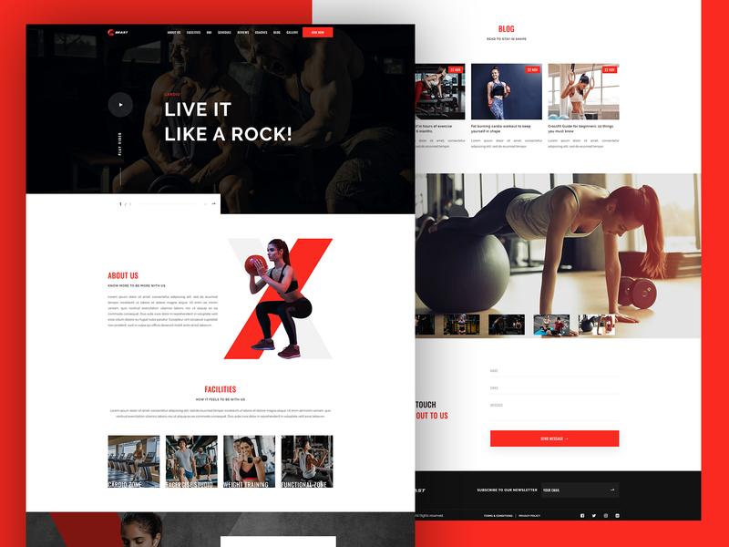 Beast - Responsive Gym Template black  white website design weight lose training cardio gym landing page yoga gym website gym design gym beast