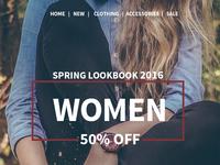 Lookbook - Fashion e-Commerce website web clothes design e-commerce ui website fashion