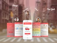 Alpacar - ride hailing app design