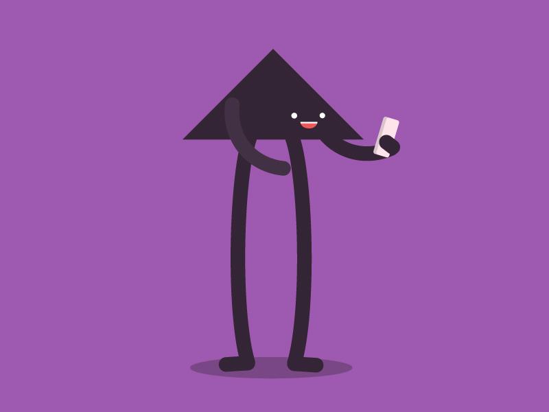 Unused Styleframe 02 styleframe character design cute app minimal phone illustration shapes