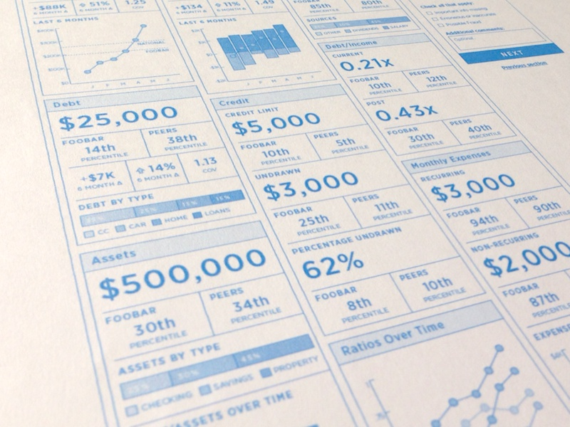 Financial Health Wireframe interface wireframe ui ux web