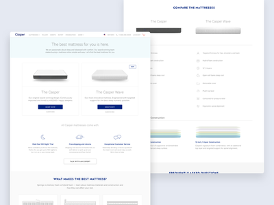 Casper Mattresses Page ux ui ecomm ecommerce web casper