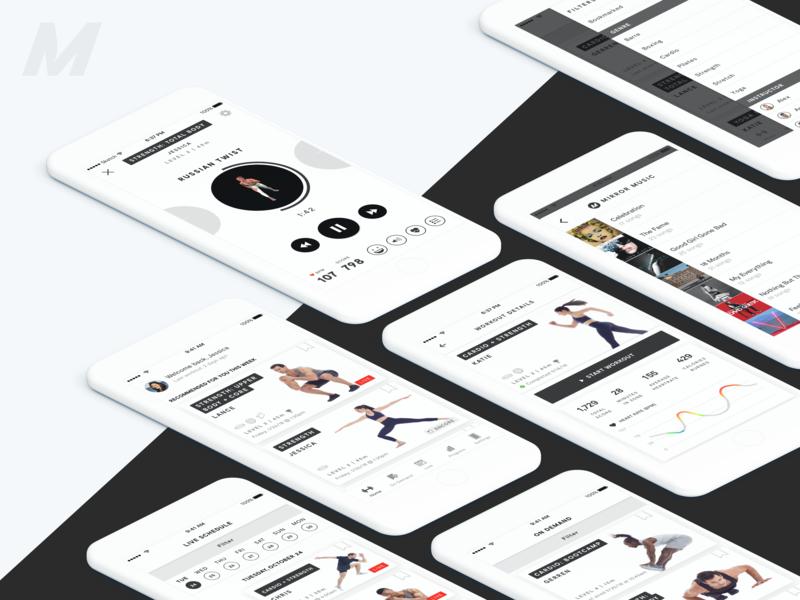 MIRROR hardware app ecommerce mobile web ios ux ui