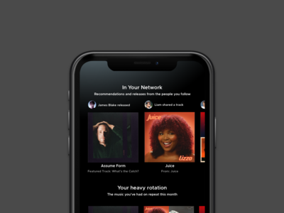 Spotify Share Feed Concept music spotify mobile app sketchapp