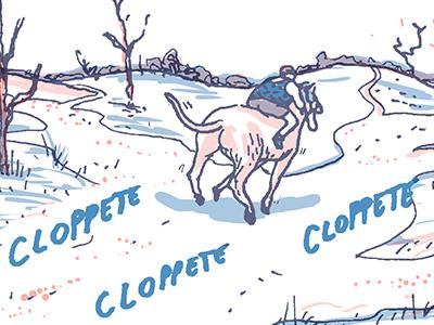 Vita con Lloyd destiny horses comics illustration
