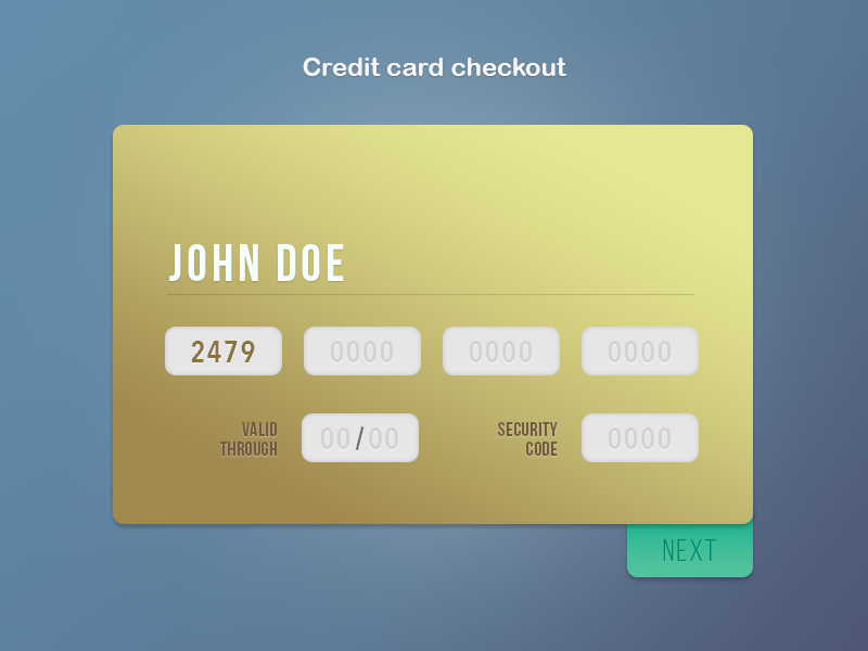DailyUI #02 Credit card checkout e-commerce credit card interaction ui gradient checkout dailyui