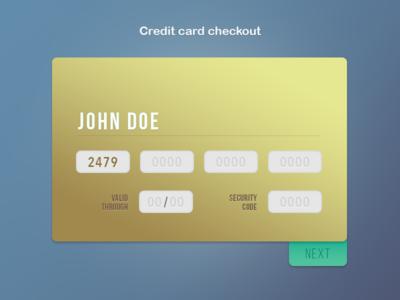 DailyUI #02 Credit card checkout