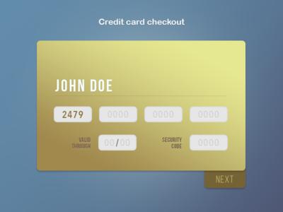 DailyUI #02 Credit card checkout - Rebound