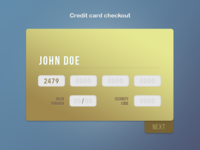 DailyUI #02 Credit card checkout - Rebound