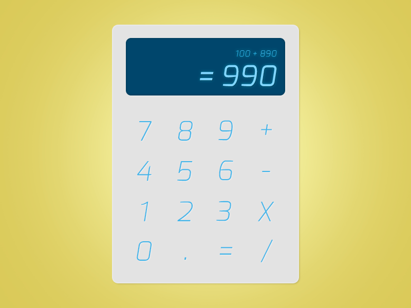 DailyUI #04 Calculator calculator interaction ui gradient checkout dailyui