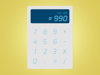 DailyUI #04 Calculator