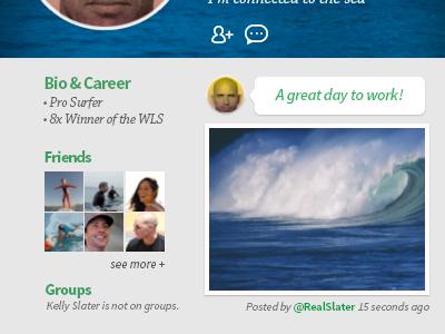 Daily UI #06 - Profile Page - Bottom