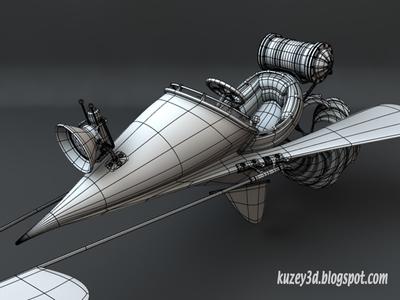 Dart Flying Machine: wip4 flying machine planes lightwave 3d steampunk scifi