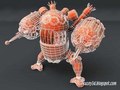 Another wip..Warbot mecha mech robots scifi lightwave3d wip 3d steampunk