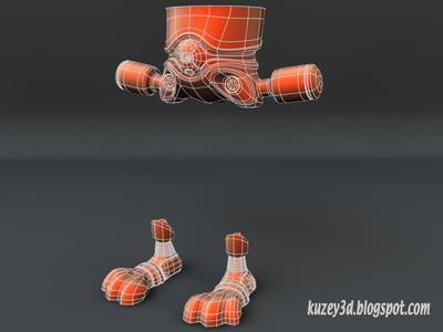 Robot Bunny wip2 mech robots scifi lightwave3d wip 3d steampunk