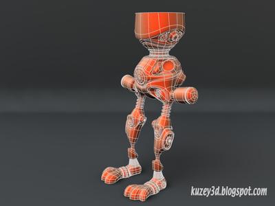 Robot Bunny Wip5 mecha mech robots scifi lightwave3d wip 3d steampunk