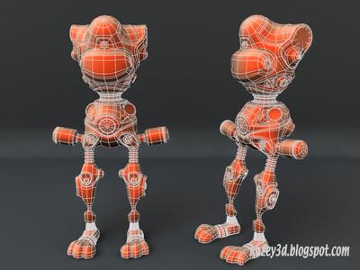 Robot Bunny wip6  mech robots scifi lightwave3d wip 3d steampunk