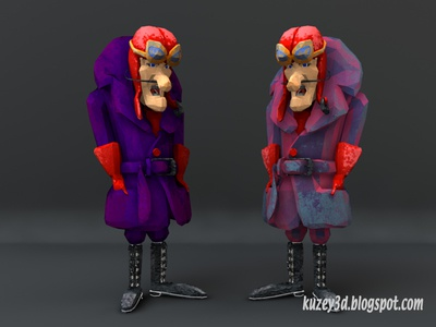 Dick Dastardly: Low Poly  hanna-barbera toons paper lowpoly cartoons lightwave3d 3d