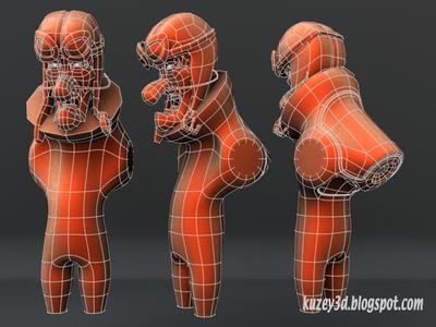 Dick Dastardly: Mecha Suit  wip mecha robots bots hanna-barbera toons cartoons lightwave3d 3d